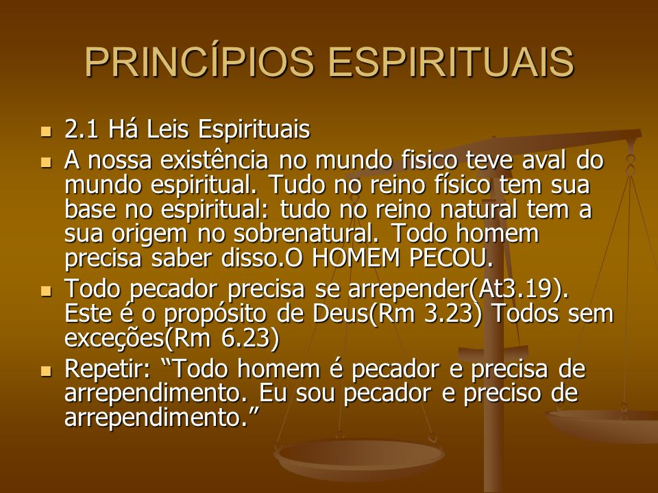 PRINCÍPIOS ESPIRITUAIS