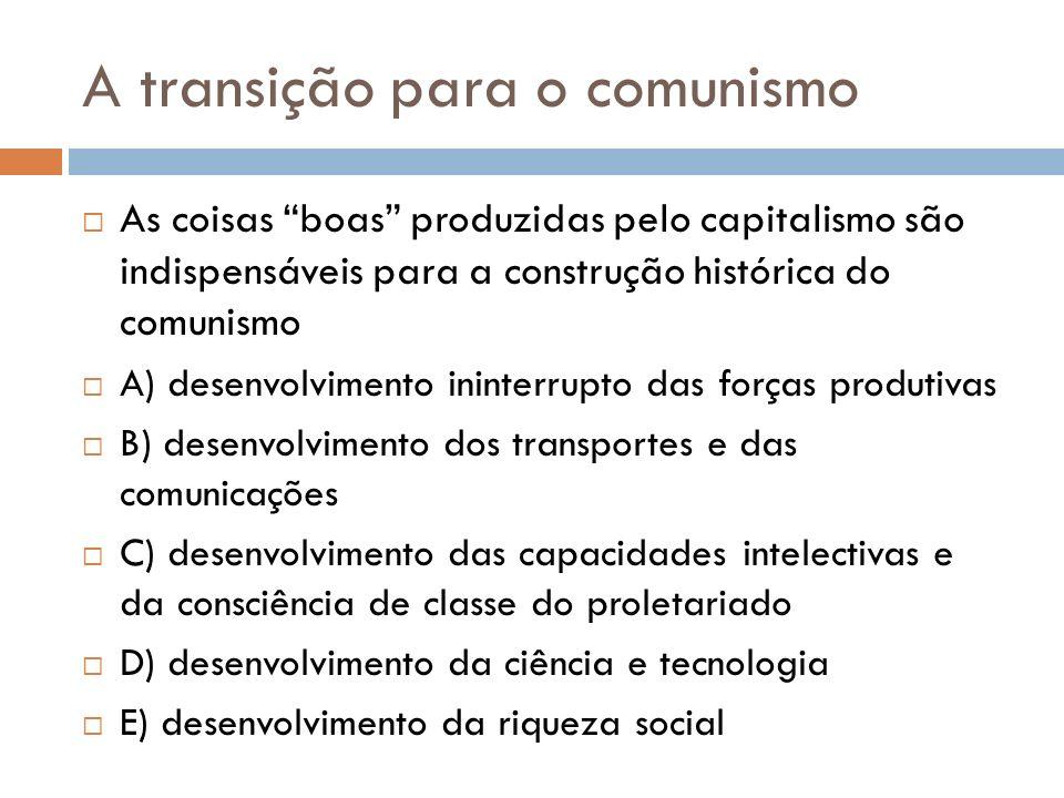 A transição para o comunismo