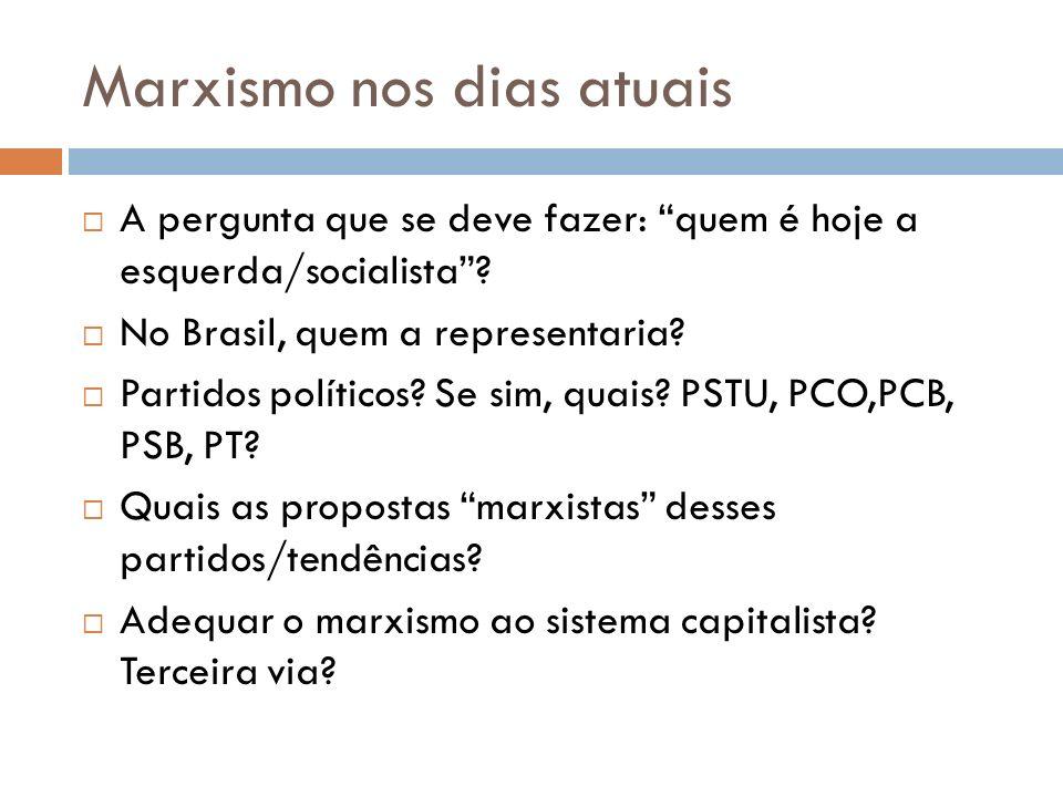 Marxismo nos dias atuais