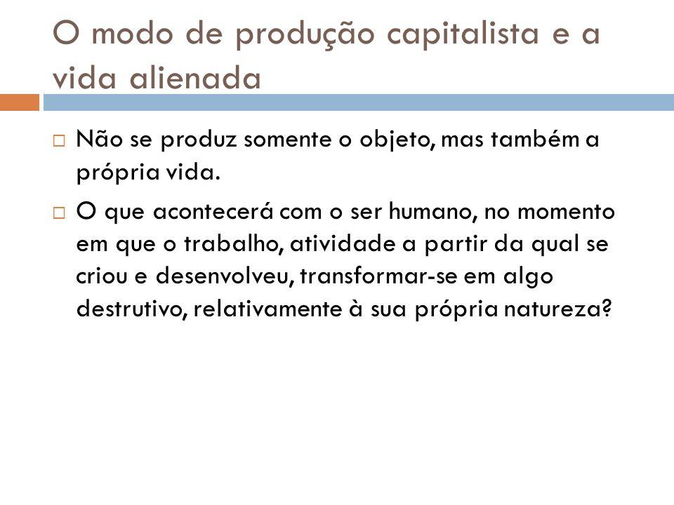 O modo de produção capitalista e a vida alienada