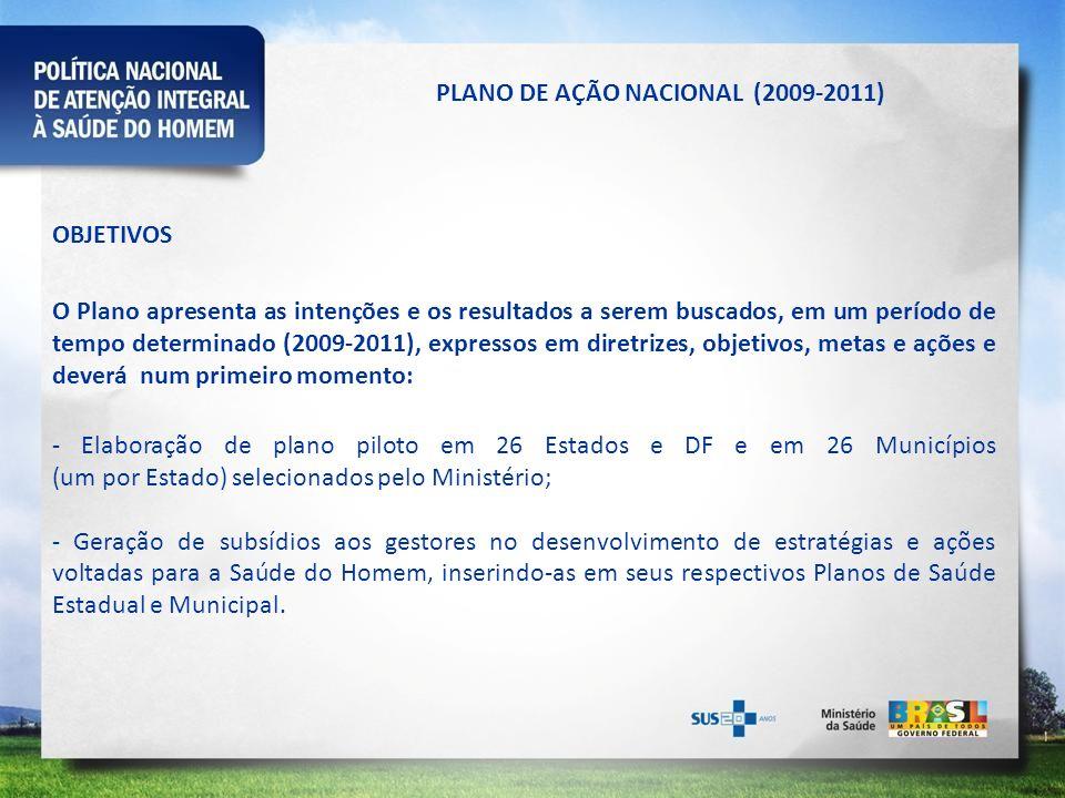 PLANO DE AÇÃO NACIONAL (2009-2011)