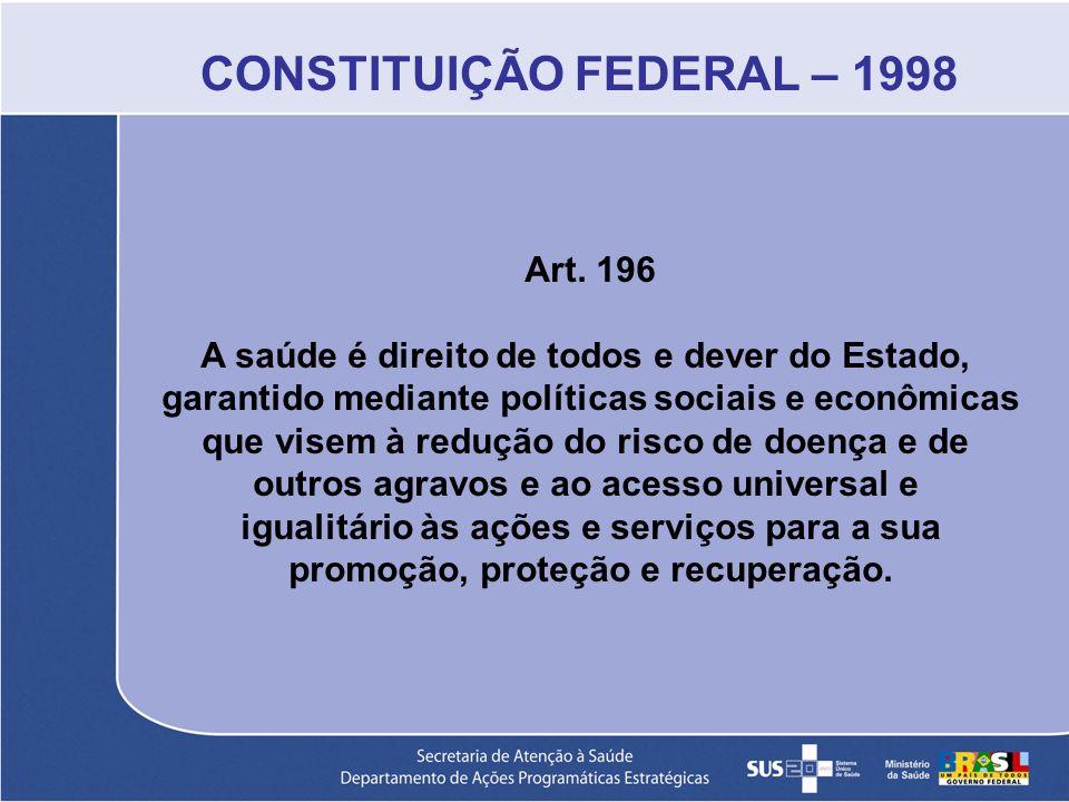 CONSTITUIÇÃO FEDERAL – 1998