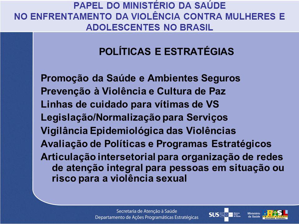 POLÍTICAS E ESTRATÉGIAS