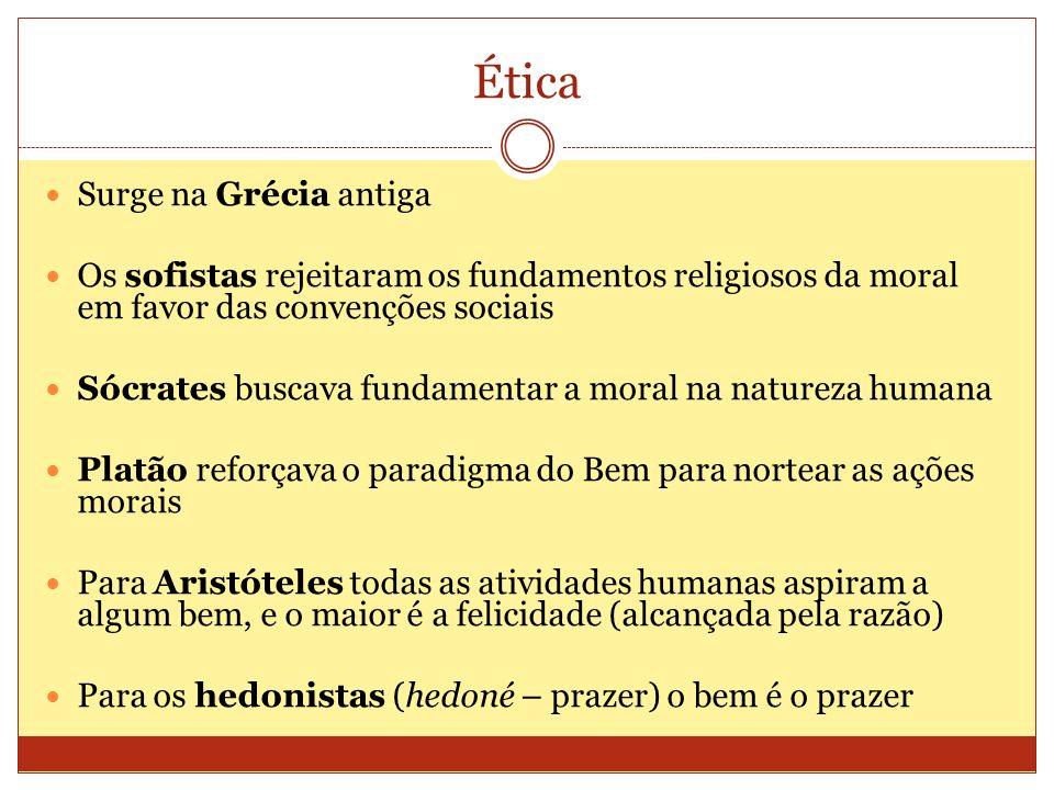 Ética Surge na Grécia antiga