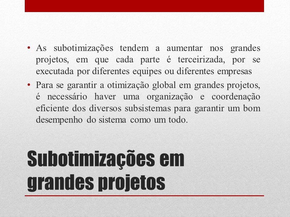 Subotimizações em grandes projetos