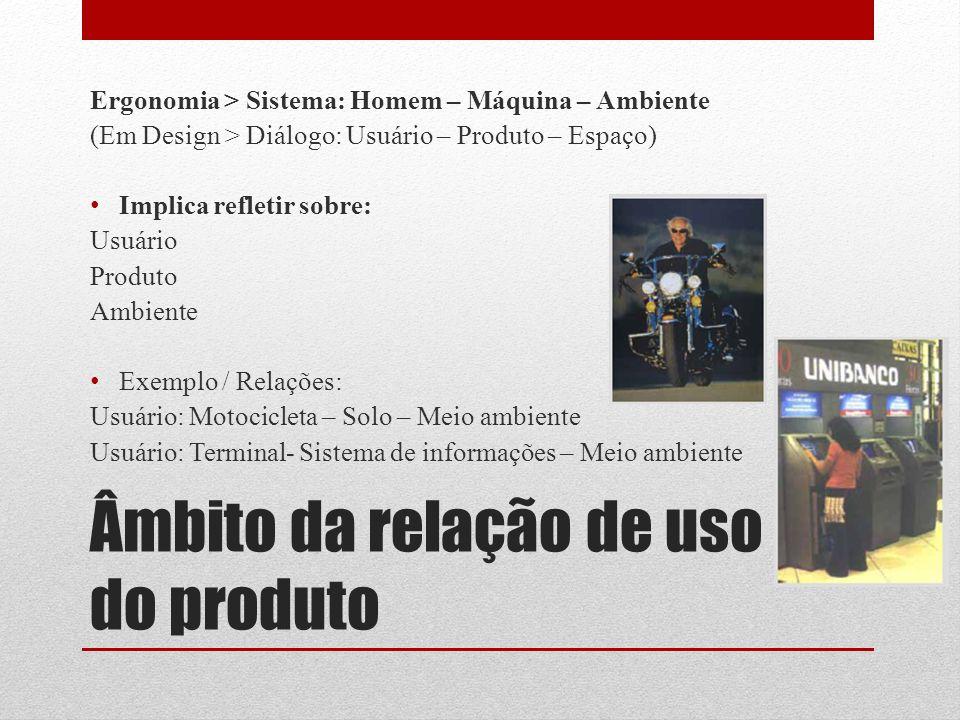Âmbito da relação de uso do produto