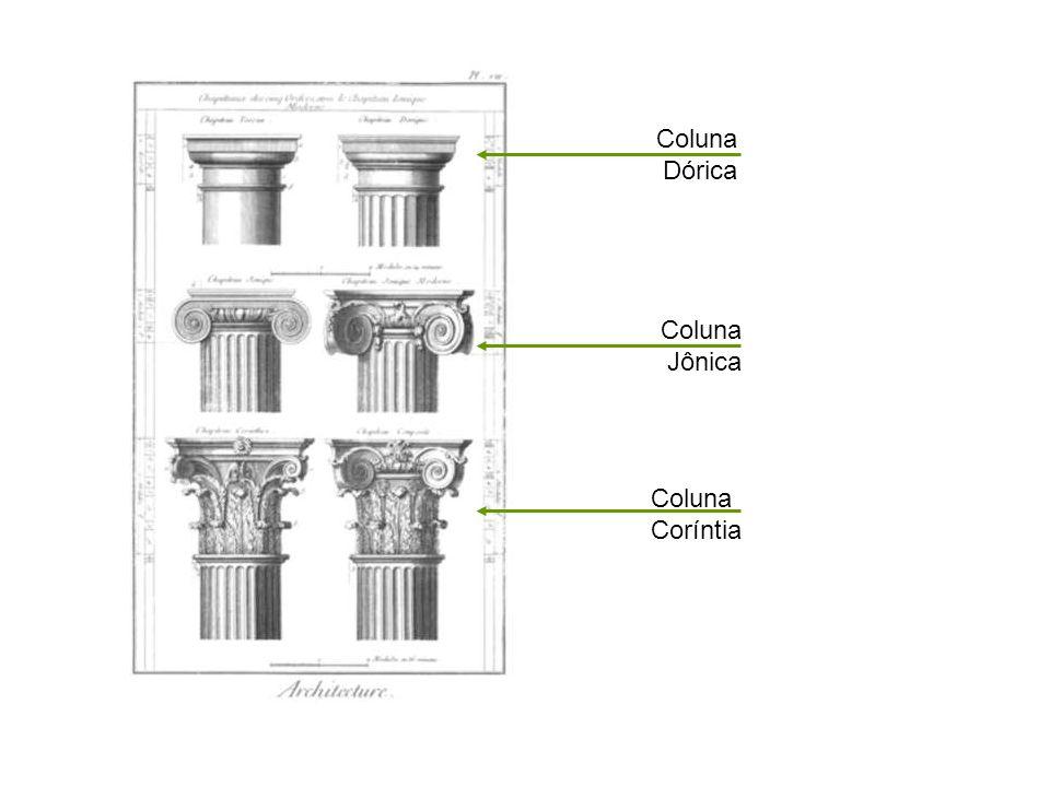 Coluna Dórica Coluna Jônica Coluna Coríntia