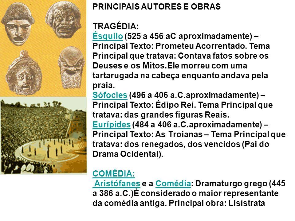 PRINCIPAIS AUTORES E OBRAS