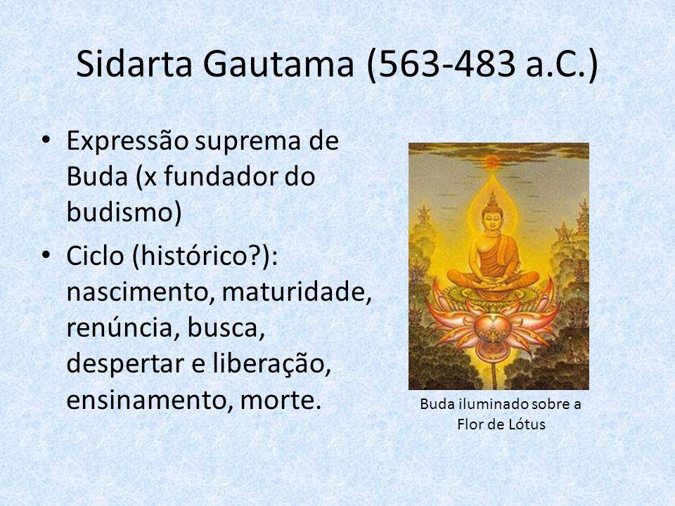 Buda iluminado sobre a Flor de Lótus
