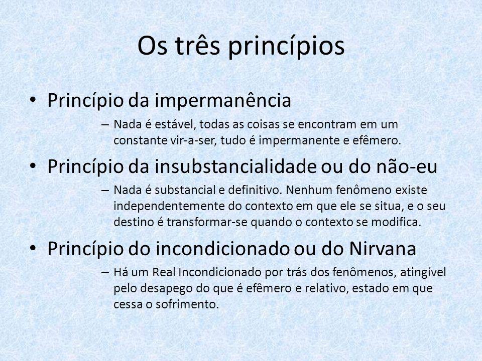 Os três princípios Princípio da impermanência