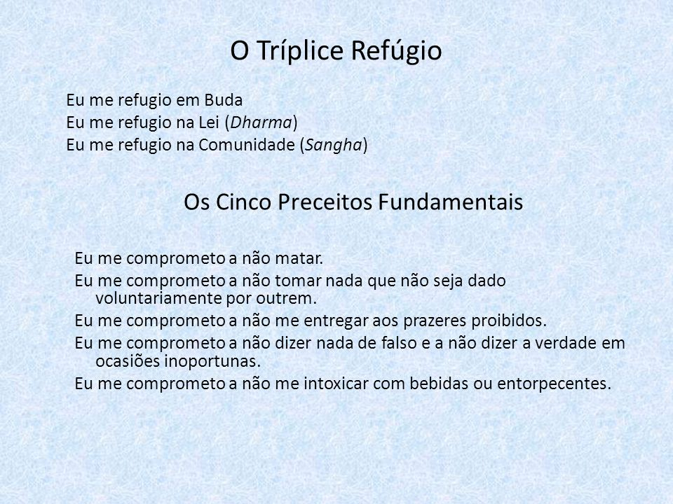 Os Cinco Preceitos Fundamentais