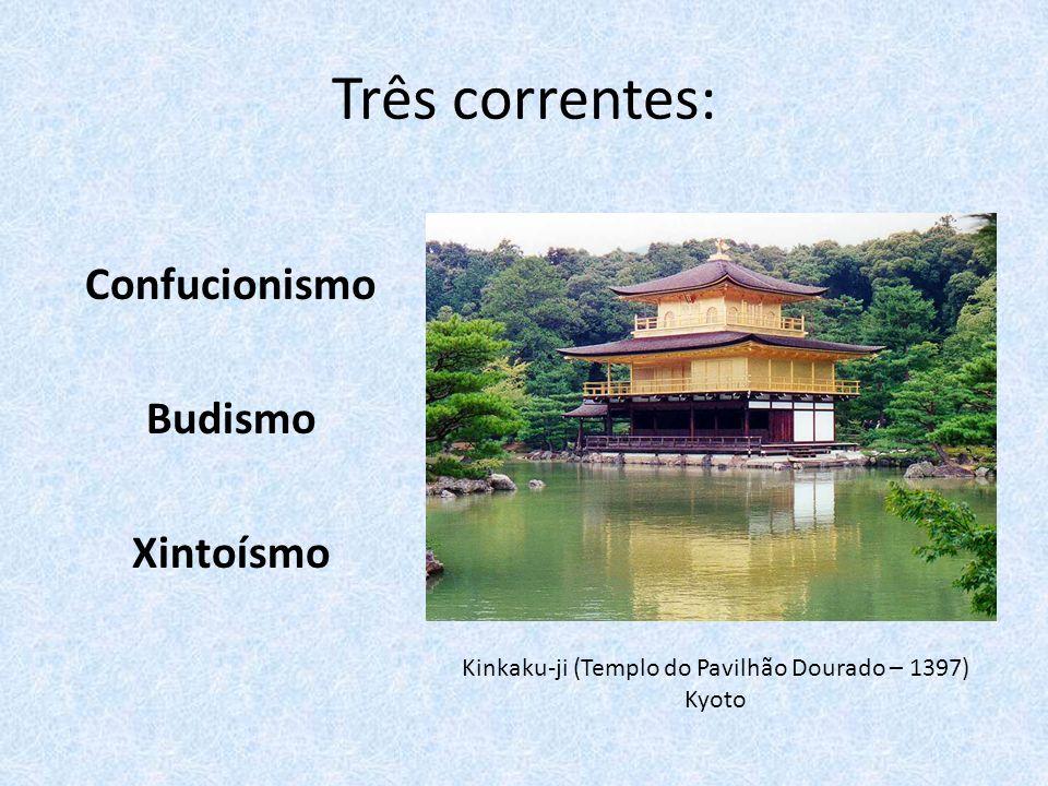 Kinkaku-ji (Templo do Pavilhão Dourado – 1397) Kyoto