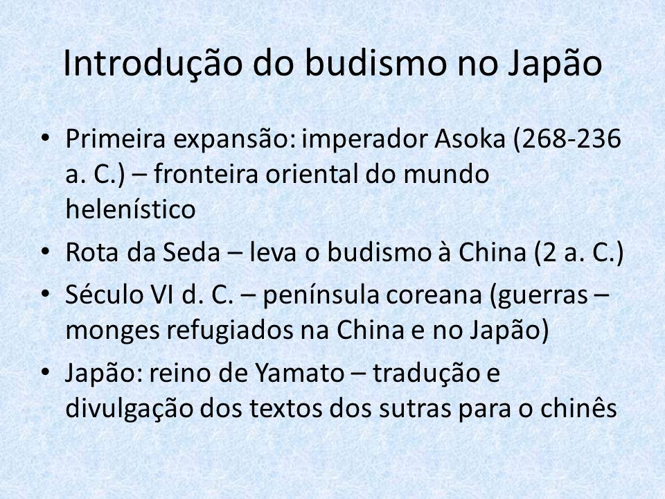 Introdução do budismo no Japão