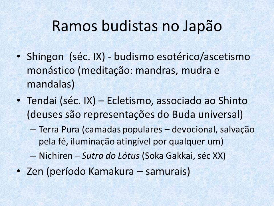Ramos budistas no Japão