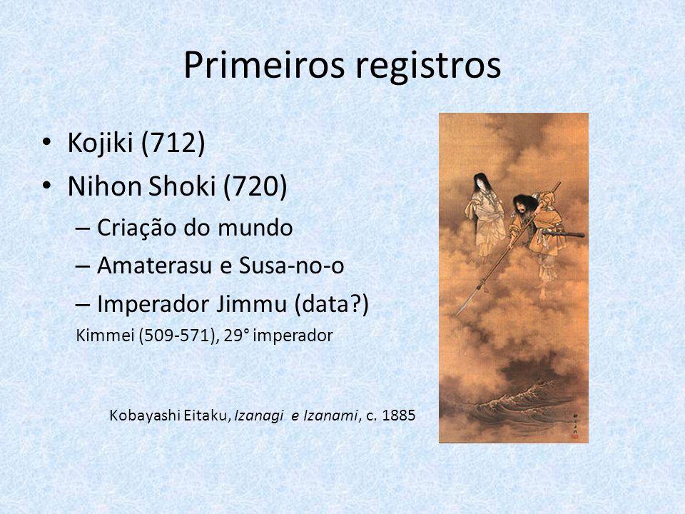 Primeiros registros Kojiki (712) Nihon Shoki (720) Criação do mundo
