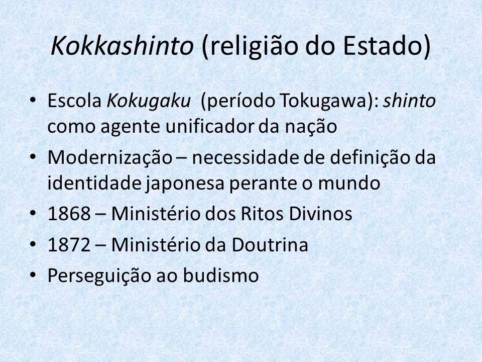 Kokkashinto (religião do Estado)