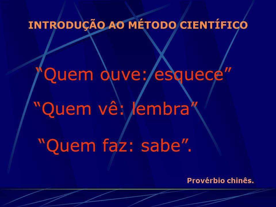 INTRODUÇÃO AO MÉTODO CIENTÍFICO