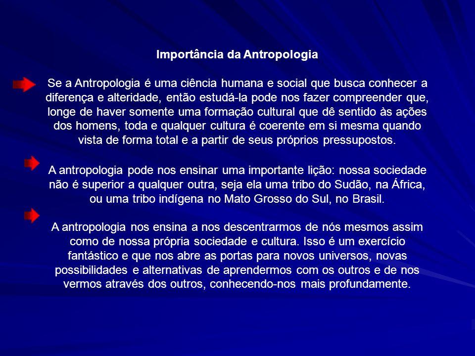Importância da Antropologia
