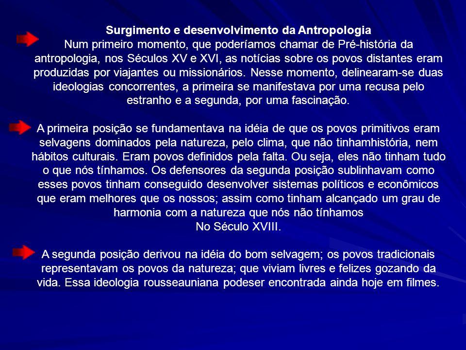 Surgimento e desenvolvimento da Antropologia