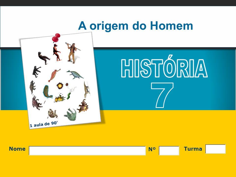 A origem do Homem HISTÓRIA 7 1 aula de 90' Nº Nome Turma