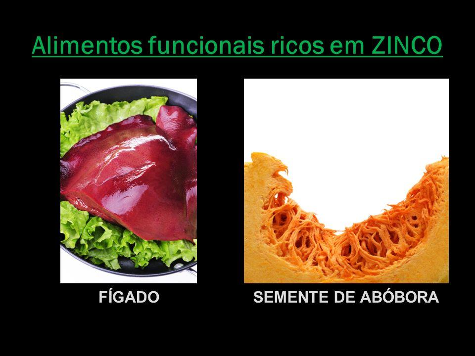 Alimentos funcionais ricos em ZINCO