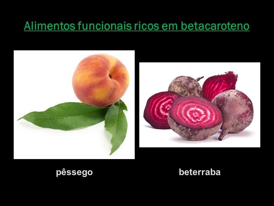 Alimentos funcionais ricos em betacaroteno
