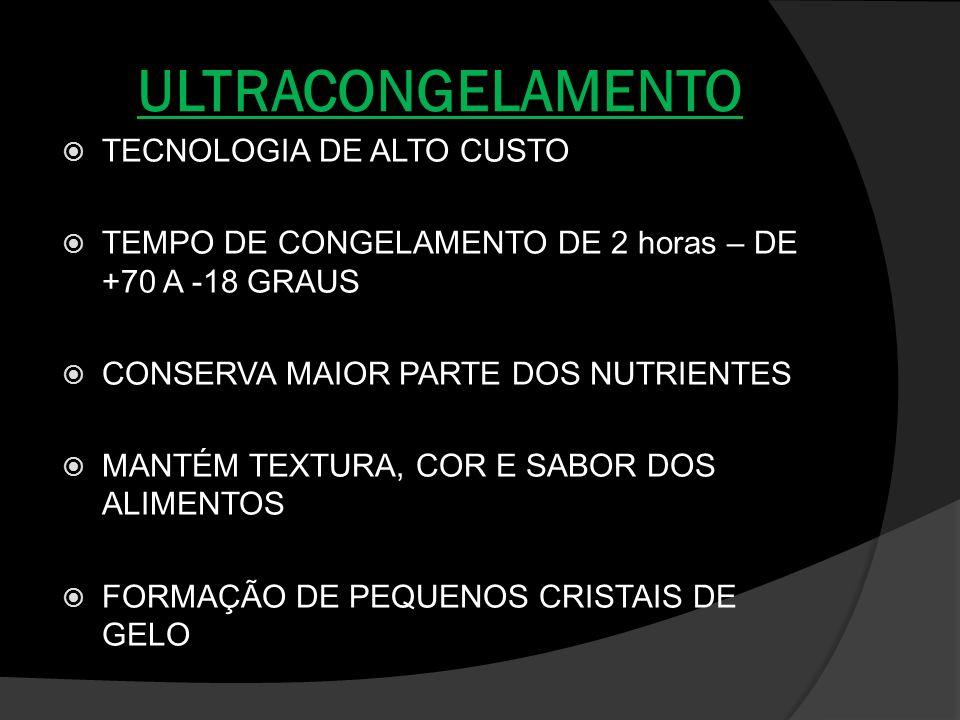 ULTRACONGELAMENTO TECNOLOGIA DE ALTO CUSTO