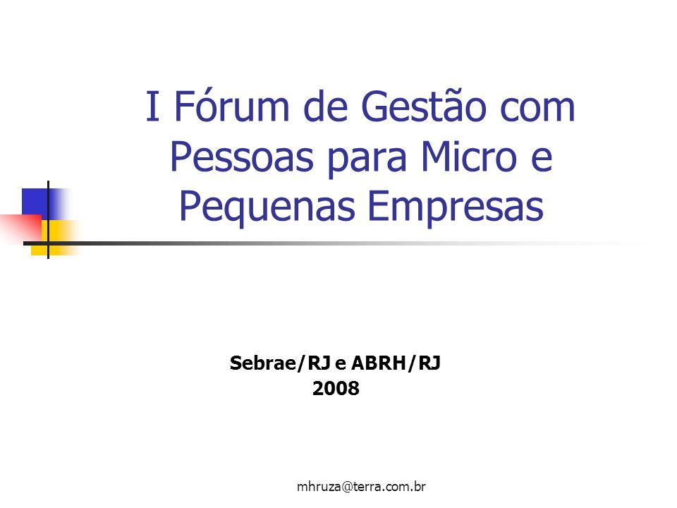 I Fórum de Gestão com Pessoas para Micro e Pequenas Empresas