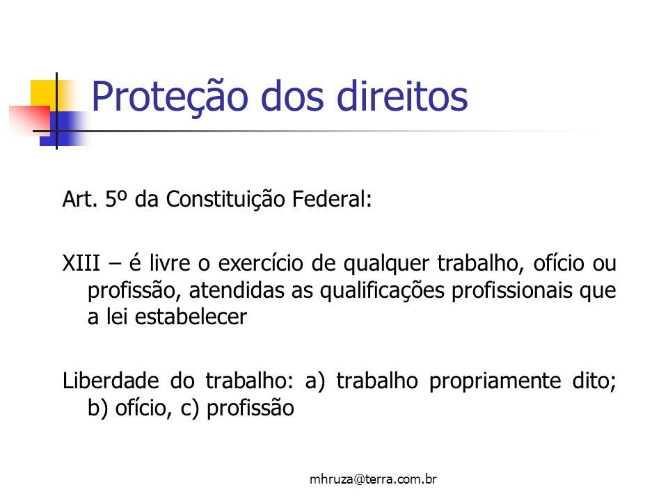 Proteção dos direitos Art. 5º da Constituição Federal: