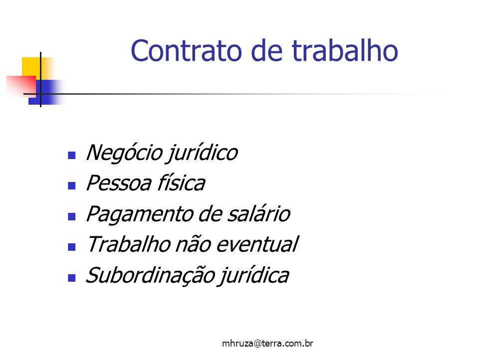 Contrato de trabalho Negócio jurídico Pessoa física