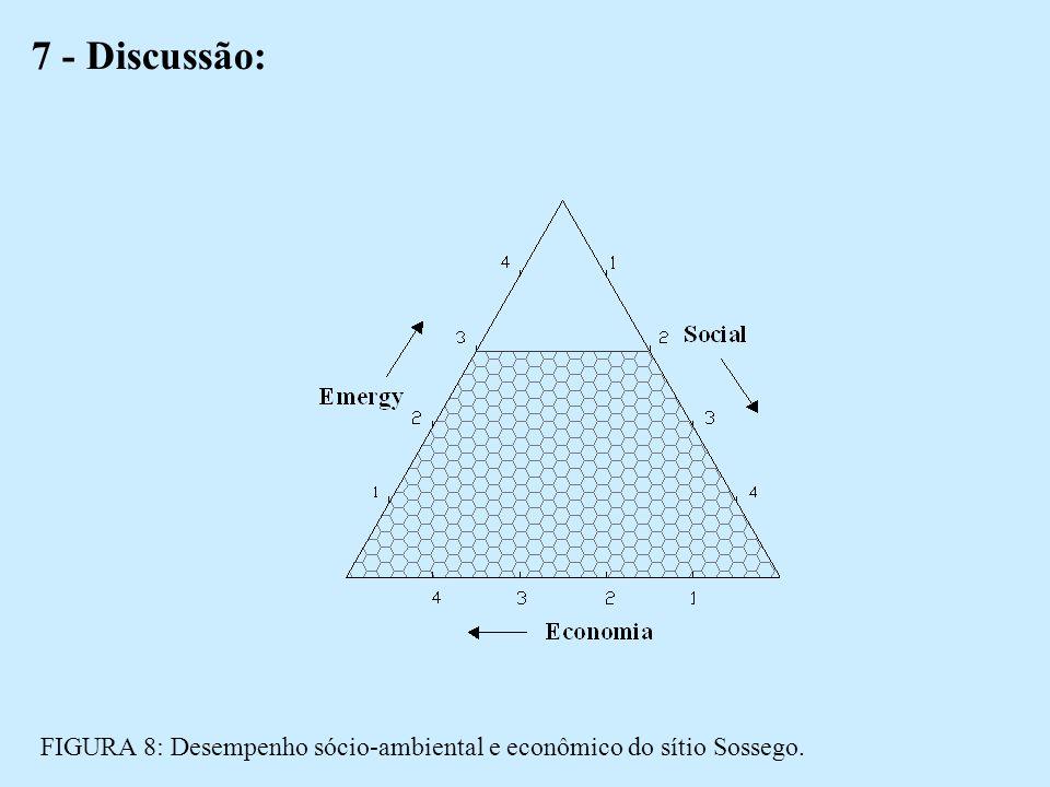 7 - Discussão: FIGURA 8: Desempenho sócio-ambiental e econômico do sítio Sossego.