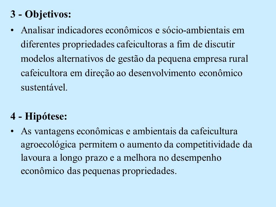 3 - Objetivos: 4 - Hipótese: