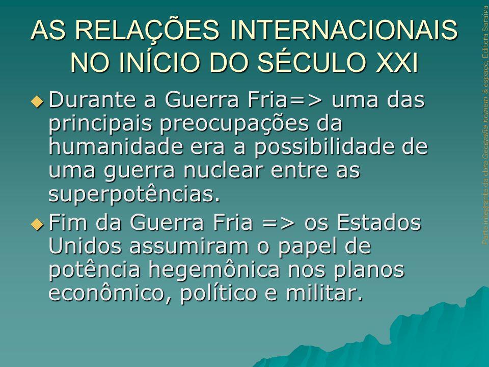 AS RELAÇÕES INTERNACIONAIS NO INÍCIO DO SÉCULO XXI