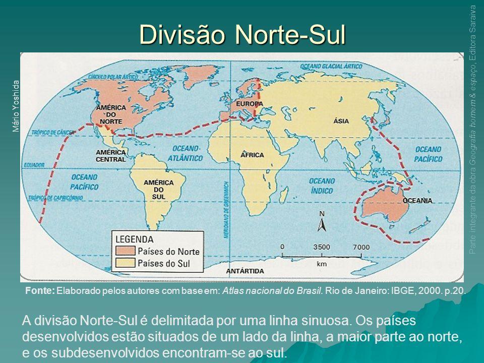 Divisão Norte-Sul Mário Yoshida. Parte integrante da obra Geografia homem & espaço, Editora Saraiva.