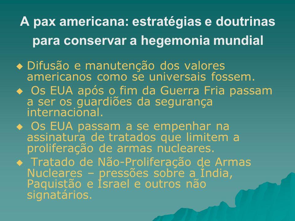 A pax americana: estratégias e doutrinas para conservar a hegemonia mundial