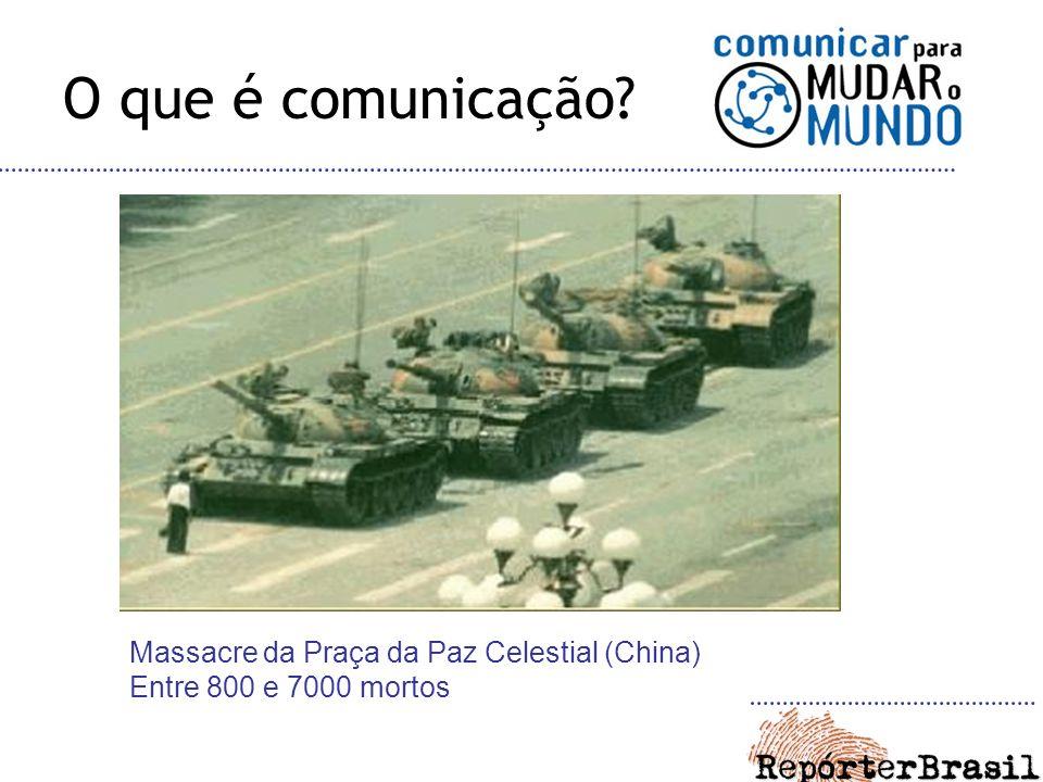 O que é comunicação Massacre da Praça da Paz Celestial (China) Entre 800 e 7000 mortos
