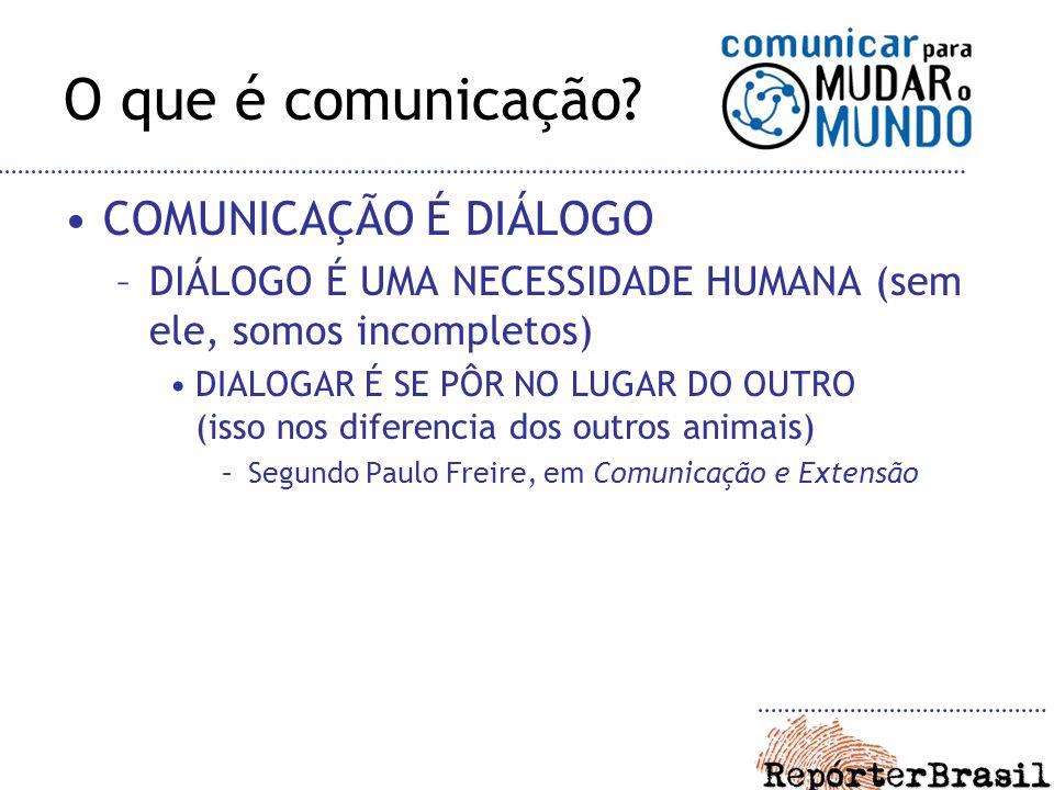 O que é comunicação COMUNICAÇÃO É DIÁLOGO
