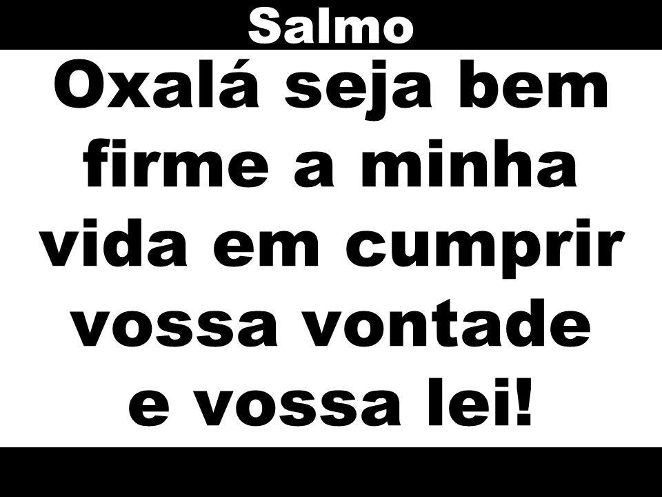 Salmo Oxalá seja bem firme a minha vida em cumprir vossa vontade e vossa lei!
