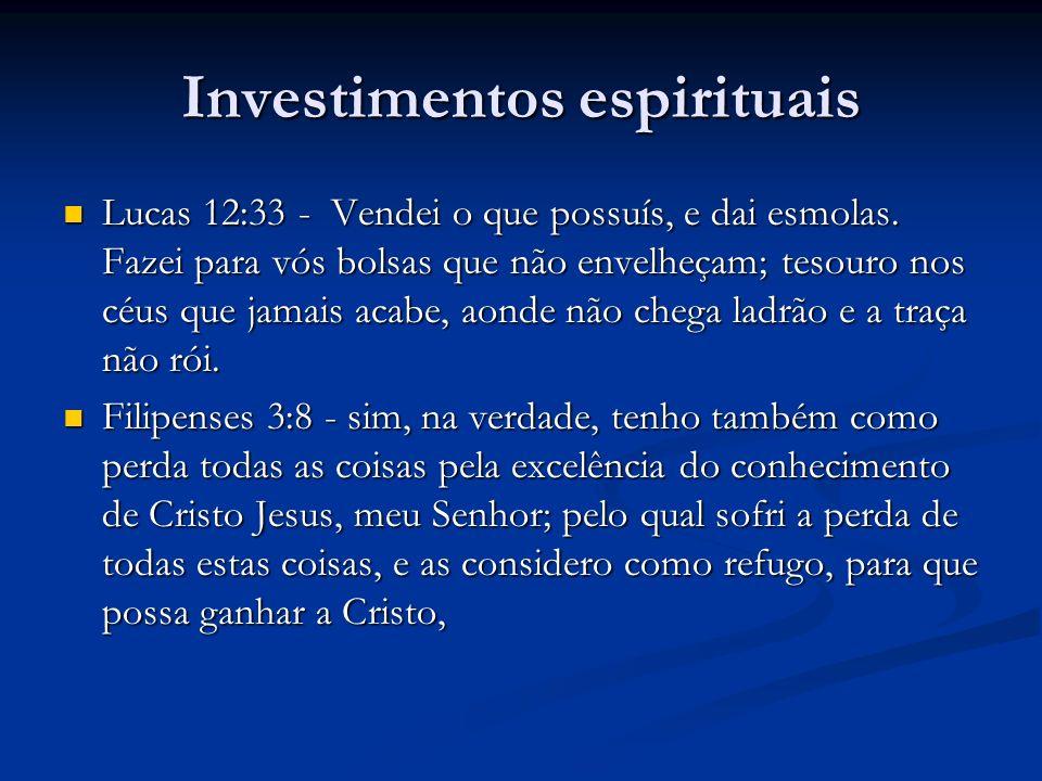 Investimentos espirituais