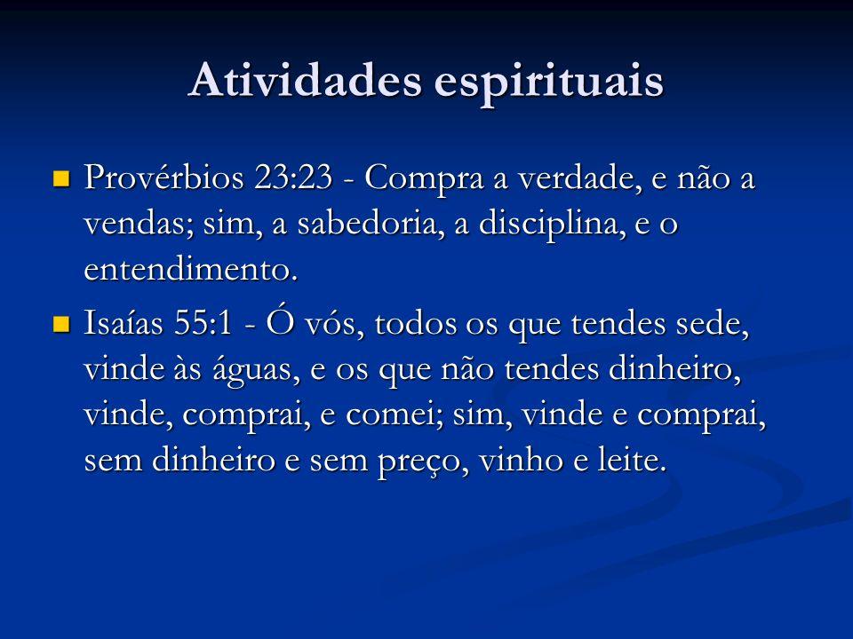 Atividades espirituais