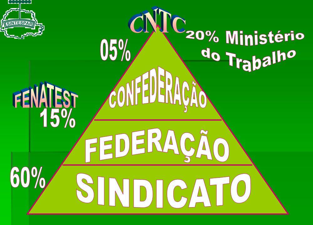 FEDERAÇÃO SINDICATO CNTC CONFEDERAÇÃO FENATEST 20% Ministério