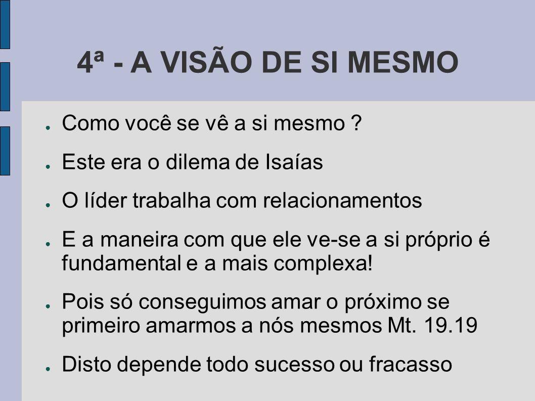 4ª - A VISÃO DE SI MESMO Como você se vê a si mesmo
