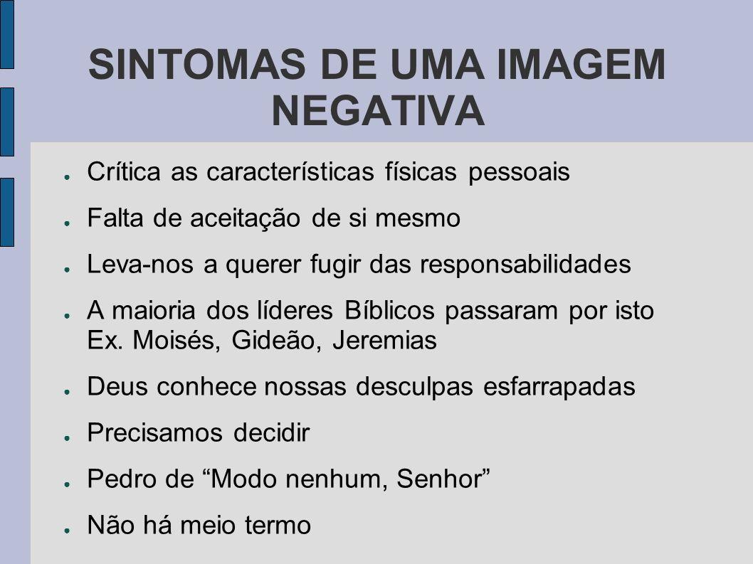 SINTOMAS DE UMA IMAGEM NEGATIVA