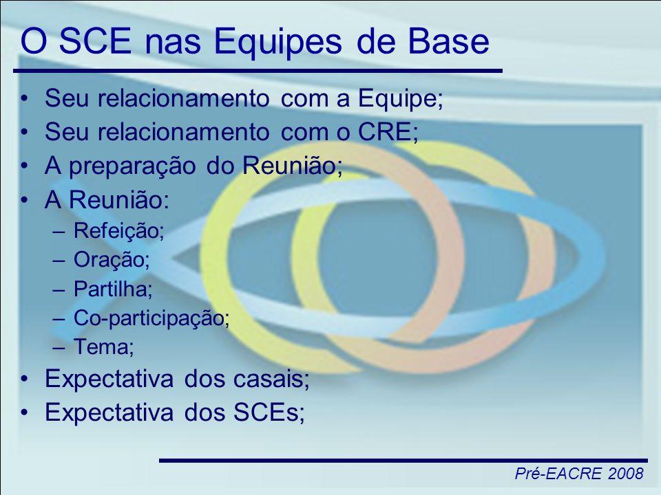 O SCE nas Equipes de Base