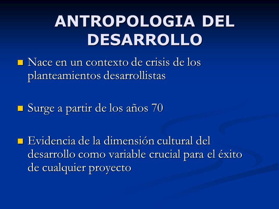 ANTROPOLOGIA DEL DESARROLLO