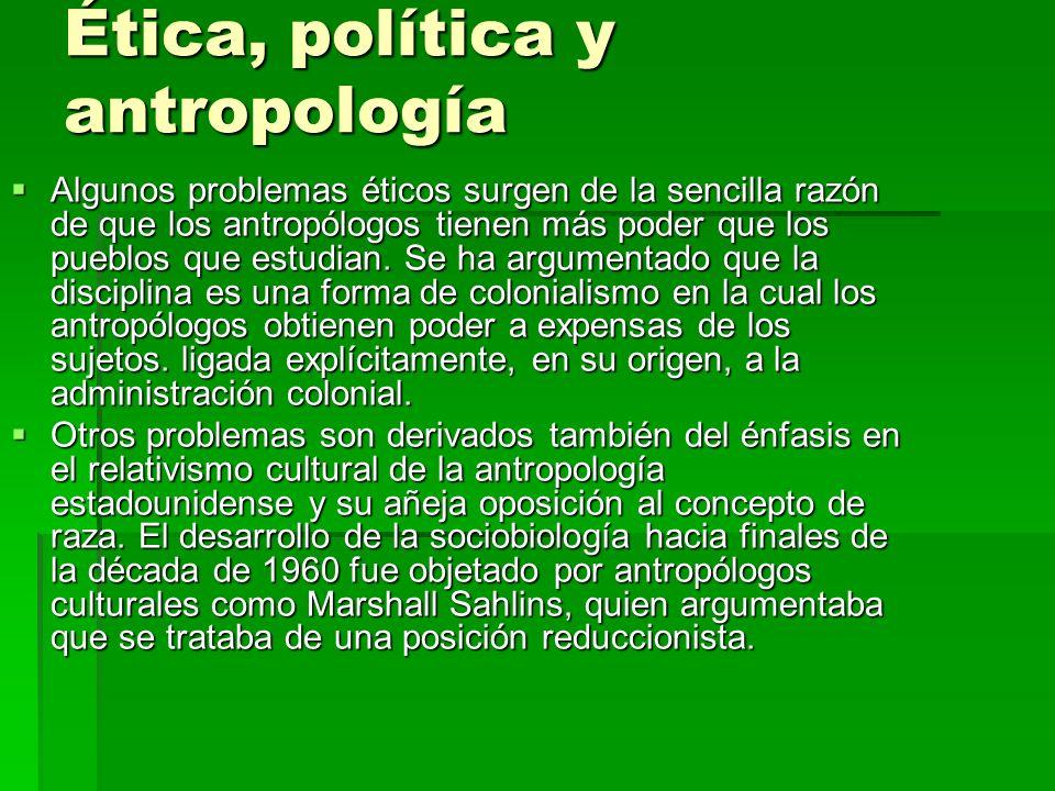 Ética, política y antropología