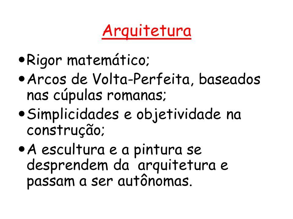 Arquitetura Rigor matemático;