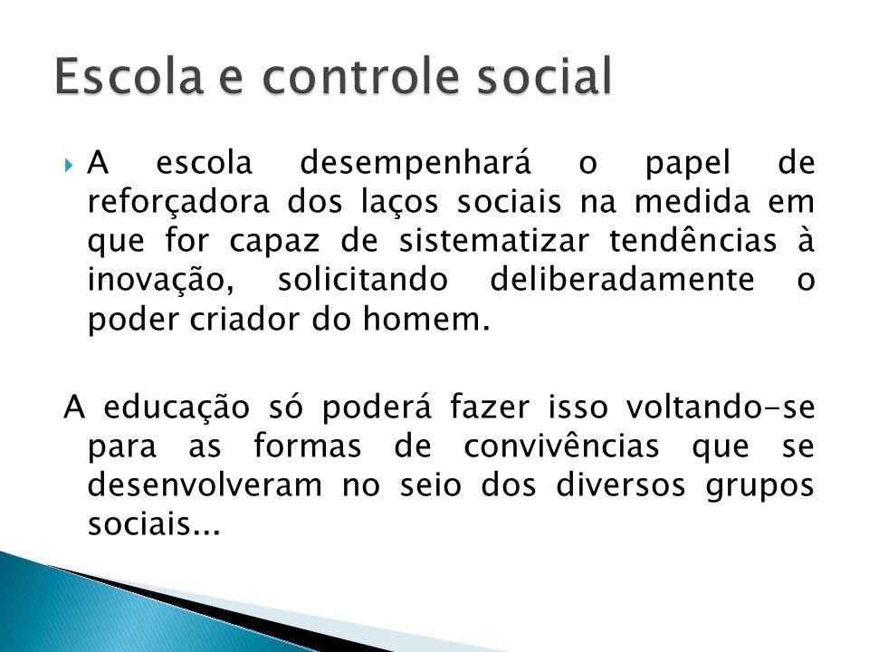 Escola e controle social