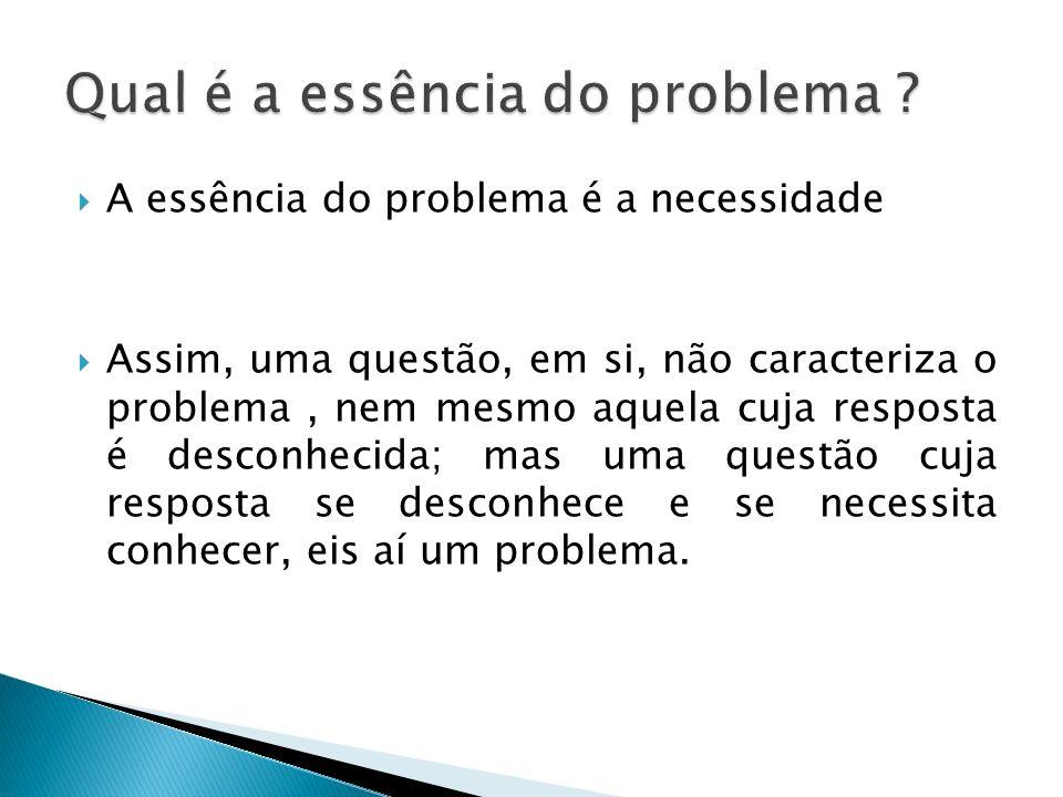 Qual é a essência do problema