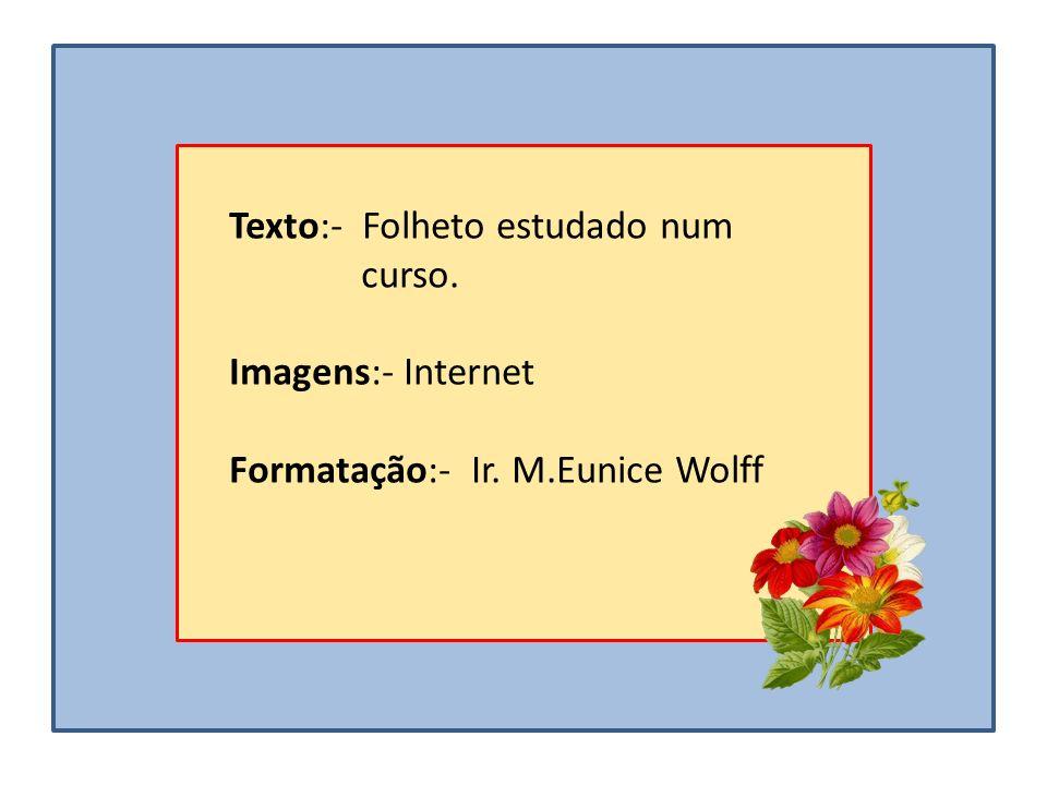 Texto:- Folheto estudado num curso.